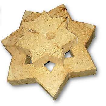 Doppelstern aus Zirbenholz