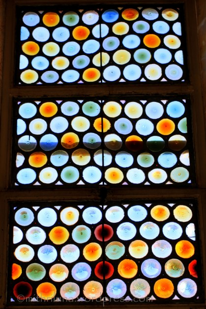 Stained glass window - circles