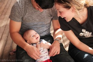 My second grandson and his parents