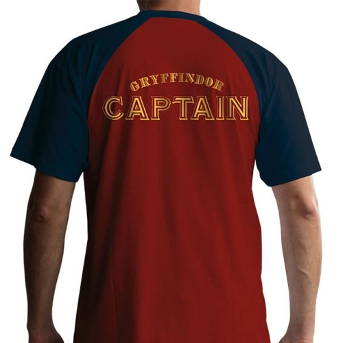 t-shirt harry potter quidditch capitano grifondoro retro