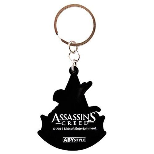 Portachiave Assassin's Creed in gomma dettaglio retro