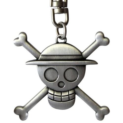 Portachiavi One Piece Cappello di Paglia logo 3D dettaglio