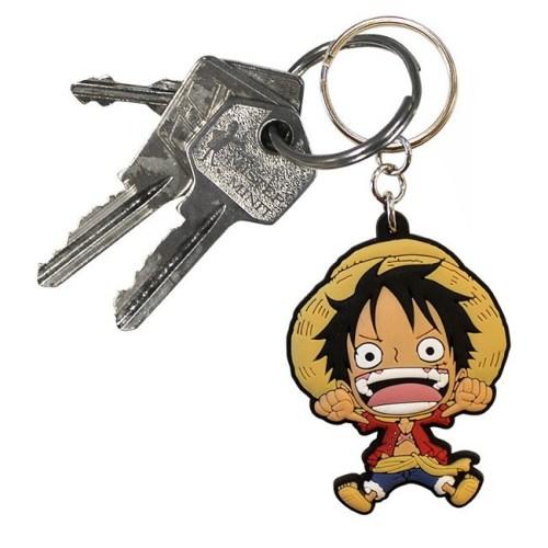 Portachiavi One Piece Rubber in gomma dettaglio chiavi