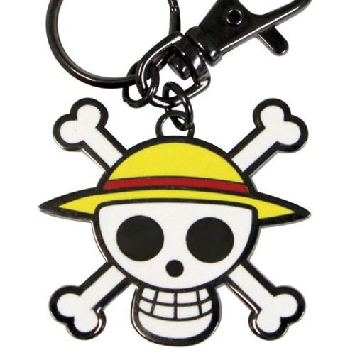 Portachiavi One Piece Stemma pirata Cappello di Paglia dettaglio