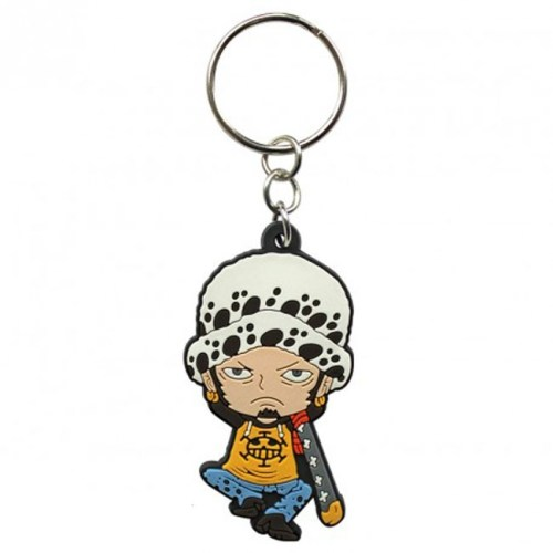 Portachiave Trafalgar Law One Piece in gomma