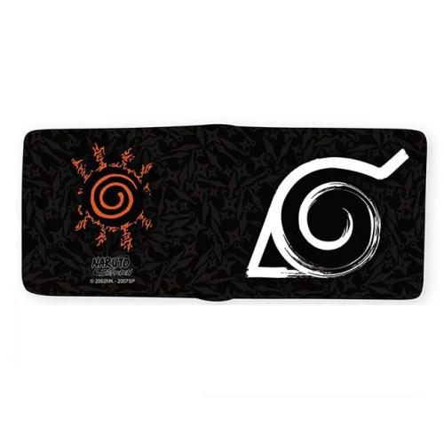 Portafoglio Naruto Shippuden aperto retro