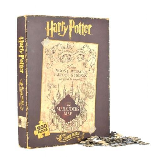 puzzle 500 pezzi mappa del malandrino harry potter