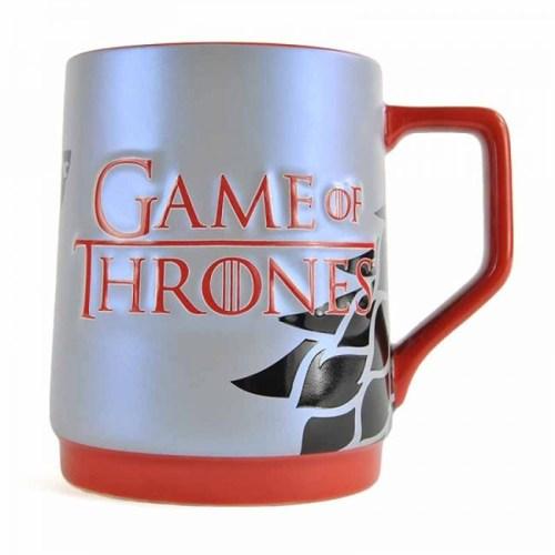 tazza con stemma degli stark game of thrones
