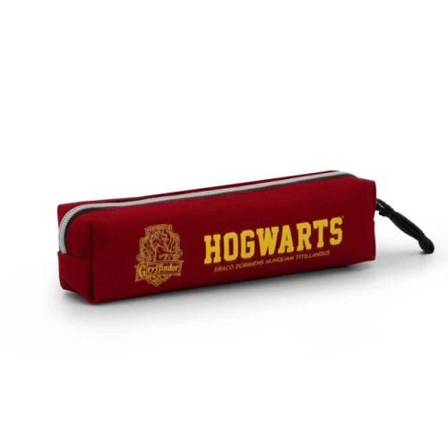 astuccio tubolare bordeaux hogwarts grifondoro harry potter