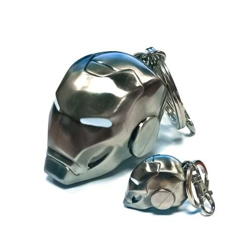 portachiavi elmetto iron man metallico 3D marvel
