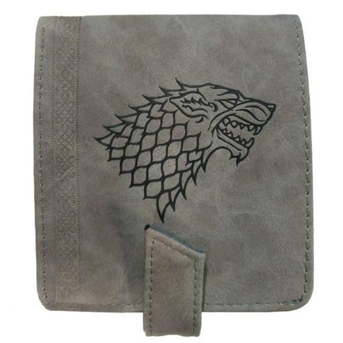 portafoglio in pelle scamosciata stark game of thrones