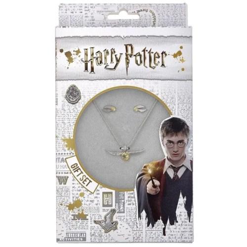 gift set collana e orecchini boccino doro harry potter