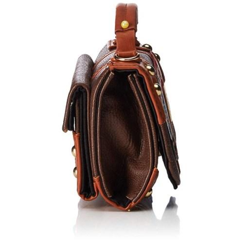 borsetta con tracolla effetto pelle con toppe harry potter lato