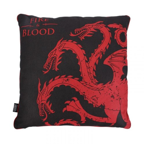 cuscino Targaryen Fire and Blood Game of Thrones