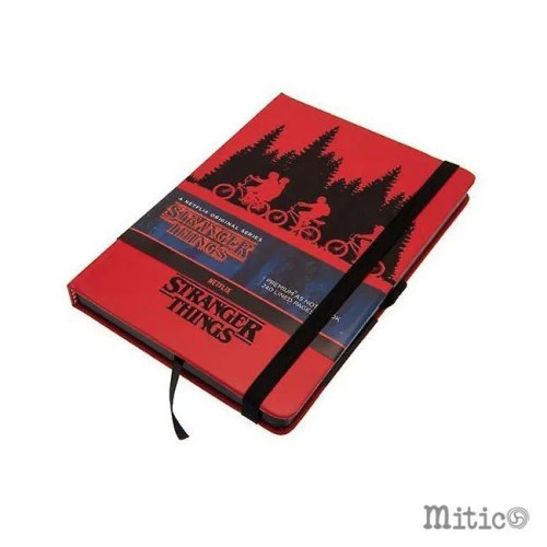 Notebook Stranger Things Rosso
