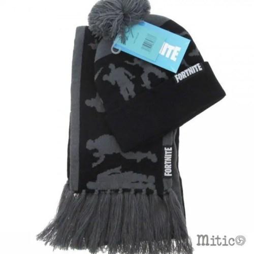 Sciarpa e cappello fortnite grigia