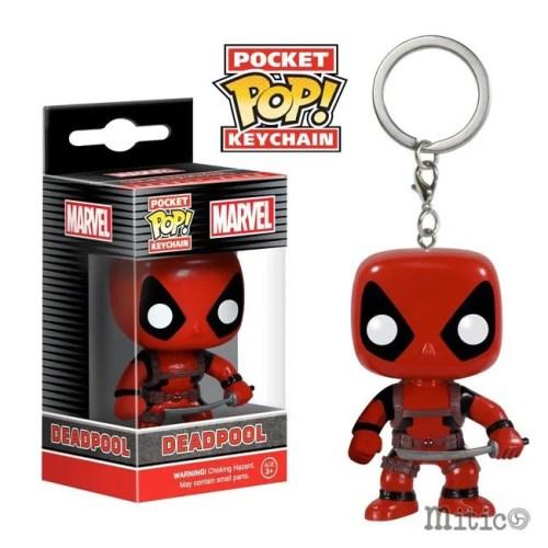 Pocket Pop Keychain Deadpool with sword Marve