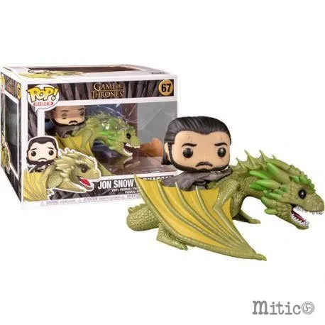 funko pop jon snow and rhaegal game of thrones 67