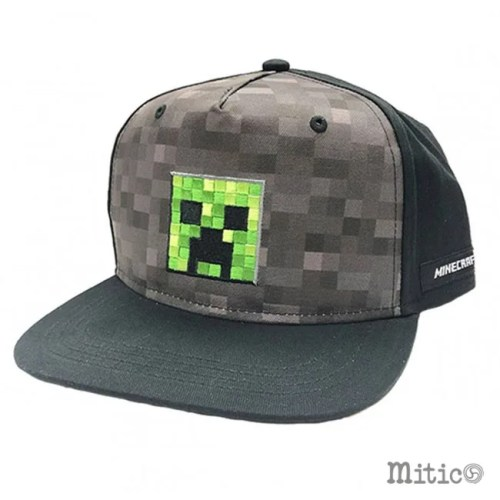 Cappello con visiera regolabile Creeper Minecraft