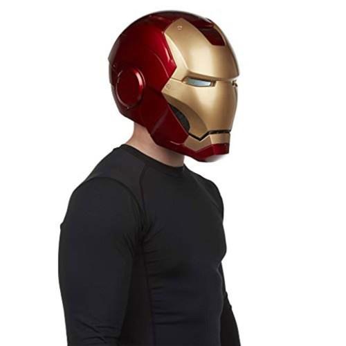 Casco Elettronico Iron Man Marvel Hasbro dettaglio indossato laterale