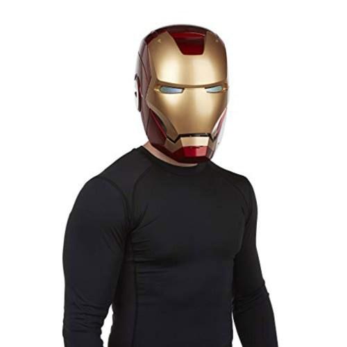 Casco Elettronico Iron Man Marvel Hasbro dettaglio indossato