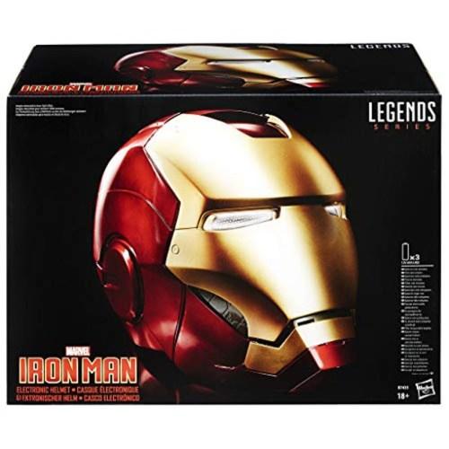 Casco Elettronico Iron Man Marvel Hasbro dettaglio scatola