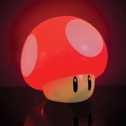Lampada Funghetto Super Mario con suoni acceso
