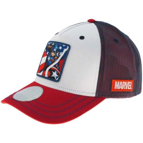 Cappello con visiera Capitan america Marvel laterale