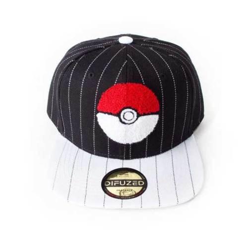 Cappello con visiera e cinturino regolabile pokemon sfera poke