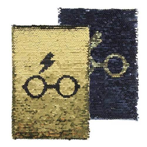 Notebook Oro Paiettato Harry Potter