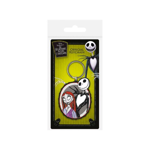 Portachiavi in gomma Jack and Sally Nightmare before christmas