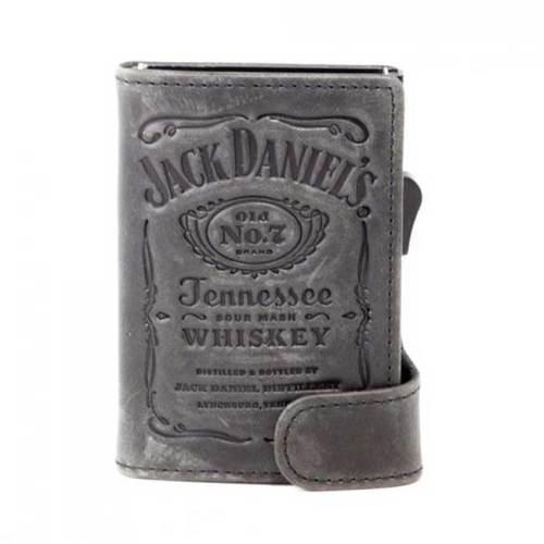 Portatessere in pelle Jack Daniels