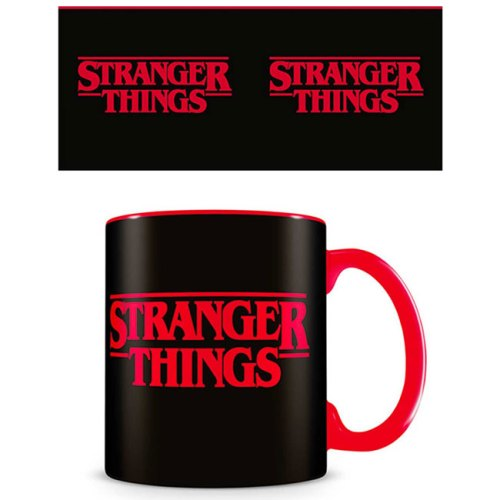 Tazza Nera Stranger Things