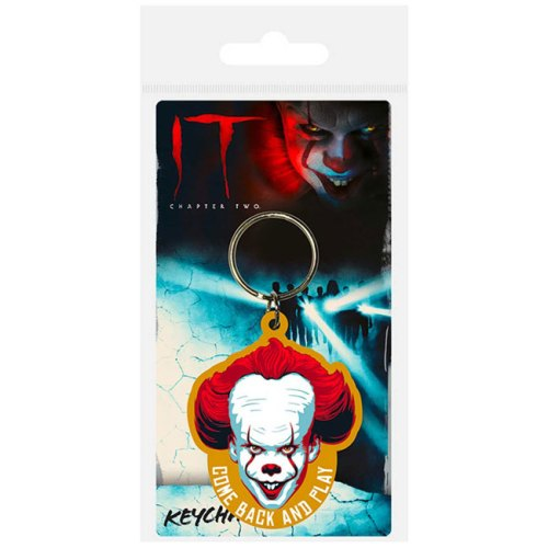 Portachiavi in gomma Pennywise IT Come back and Play