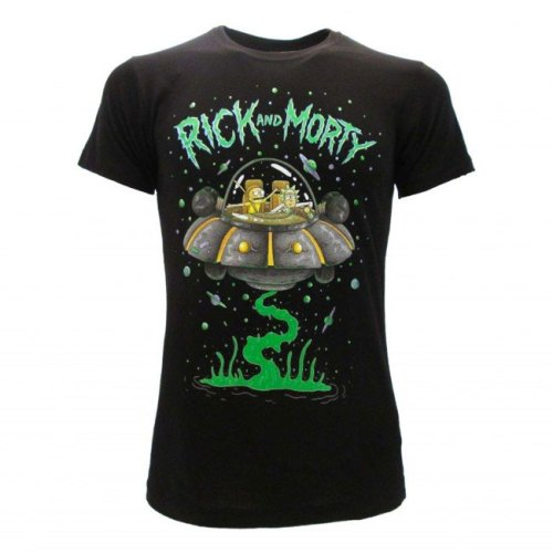 T-shirt Rick and Morty navicella