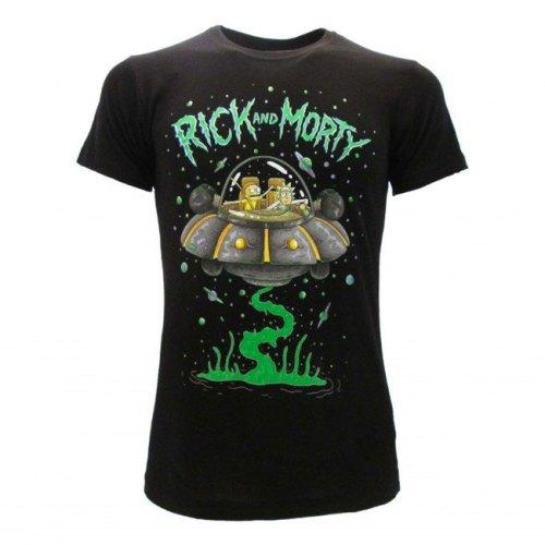 T-shirt Rick and Morty navicella