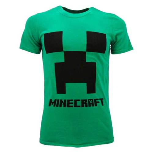 T-Shirt Bambino Creeper Logo Minecraft