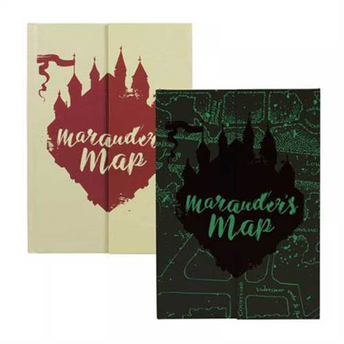 Notebook Mappa del Malandrino Glow in the dark Harry Potter