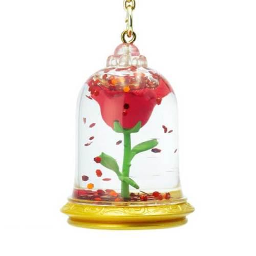 Portachiavi 3D Rosa La bella e la Bestia