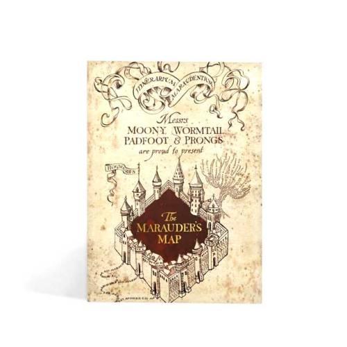 Biglietto augurale Mappa del Malandrino Harry Potter