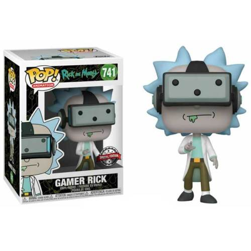 Funko Pop Gamer Rick Special Edition Rick and Morty 741