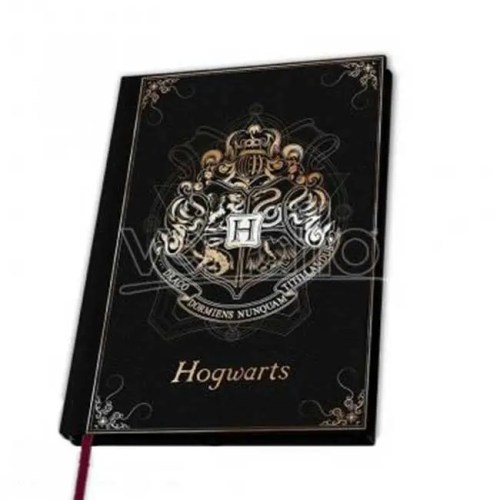 Notebook nero e oro Hogworts Harry Potter