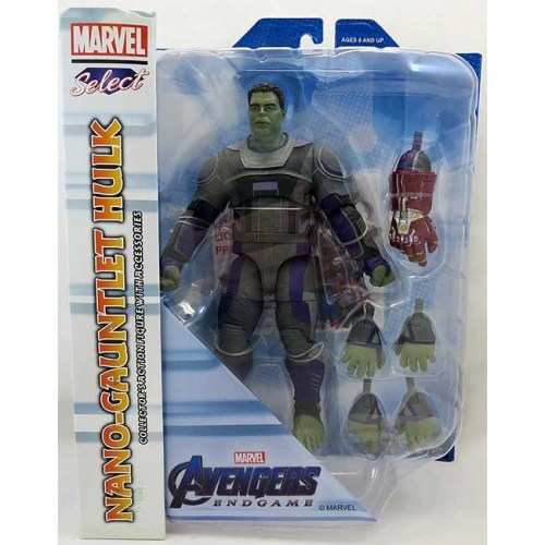 Action Figure Nano-Gauntlet Hulk Avengers Endgame Marvel 23cm Diamond Select
