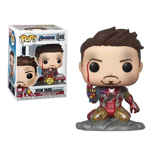 Funko Pop Iron Man I am Iron Man The Avengers Marvel 580 Special Edition Glow in the Dark