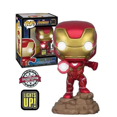 Funko Pop Iron Man The Avengers Marvel 380 Special Edition Light Up