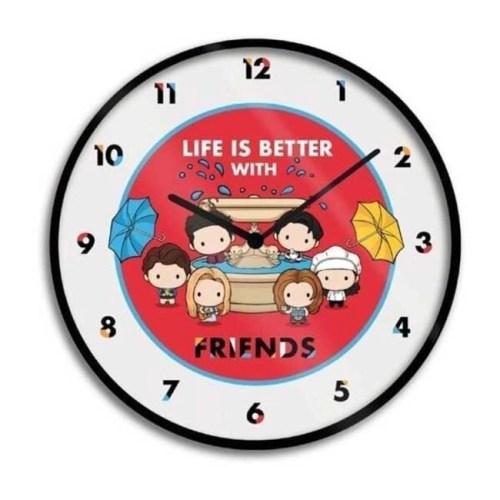 Orologio da Parete Life is Better with Friends