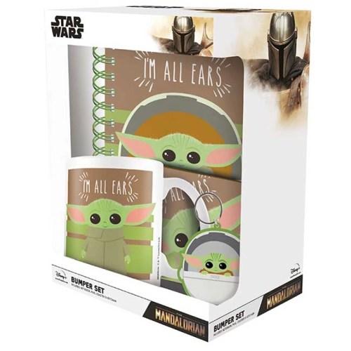 Set Tazza Notebook Portachiavi e sottobicchiere The Child Star Wars Mandalorian