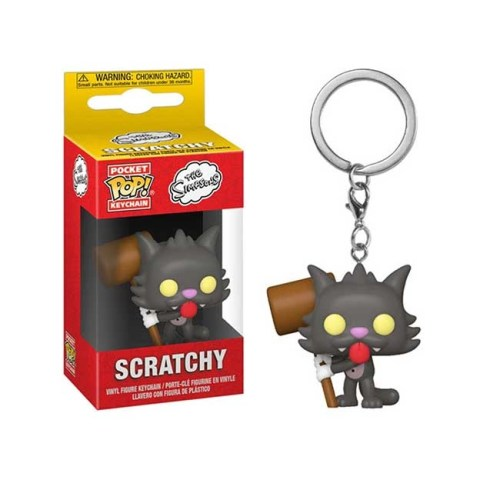 Pocket Pop Keychain Scratchy The Simpsons