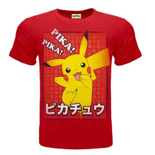 T-Shirt Pikachu Rossa