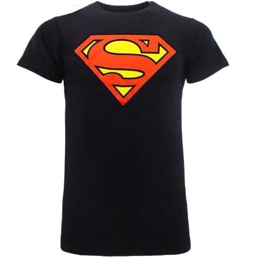 t-shirt Superman classic Logo Blu Notte